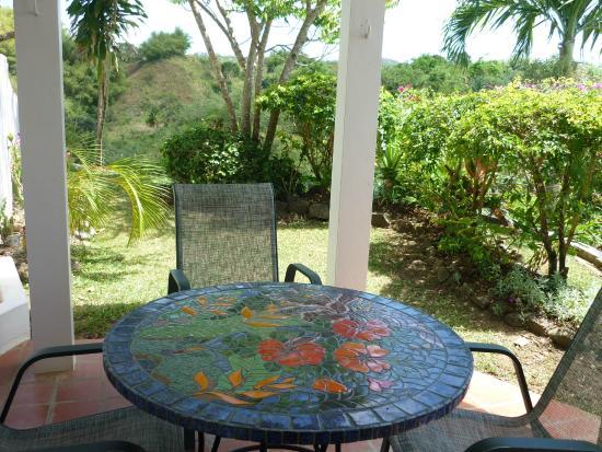 Top O' Tobago Villa & Cabanas: Cabana patio and garden
