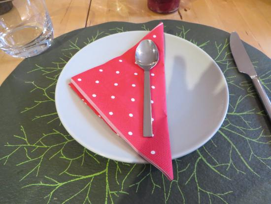 Saint-Jeannet, France : Place setting at breakfast