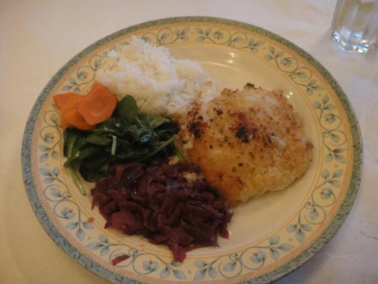 Back Eddy Bistro: My cod dinner