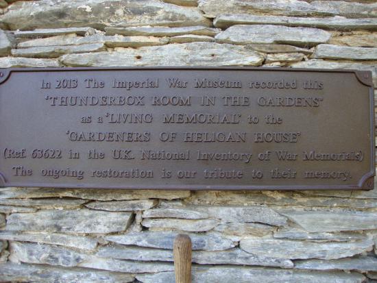 St Austell, UK: Thunderbox Plaque