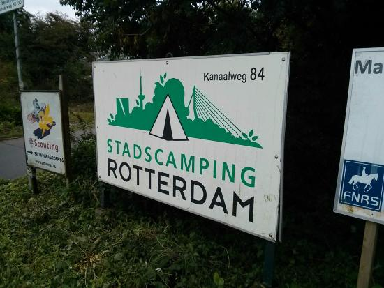 Stadscamping Rotterdam : Placa na esquina