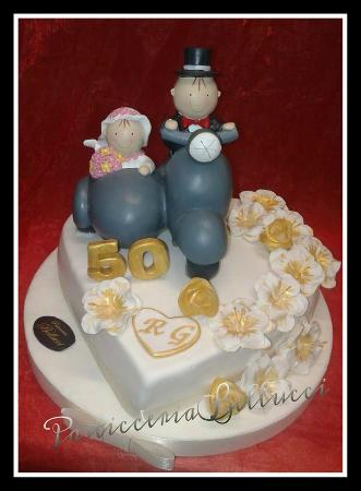 Torta Decorata In Pasta Di Zucchero Per Anniveersario Di Matrimonio