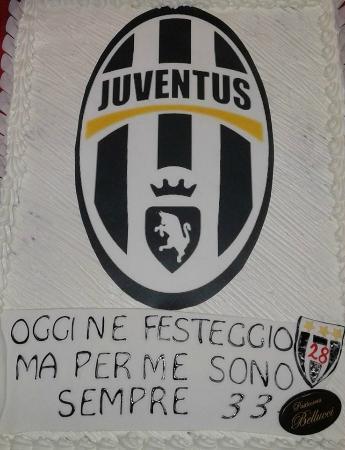 Torta Di Compleanno Decorata Tifoso Juventus Foto Di