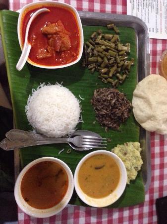 Pretty colours!  Vegetable fish thali at Taste budz