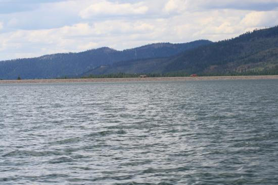 View of Vallecito lake form the boat