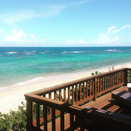 Villa tropical oceanfront apartments on shacks beach villa tropical view east from r2