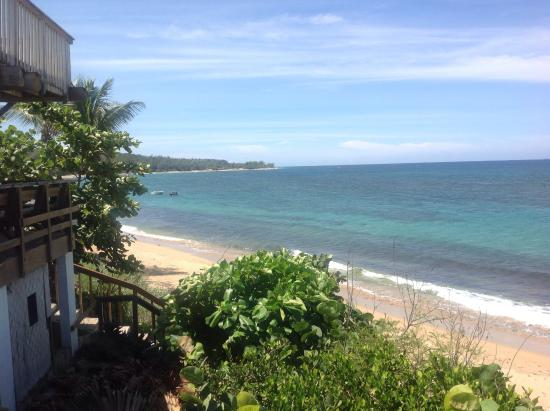 Villa tropical oceanfront apartments on shacks beach villa tropical view west from r2