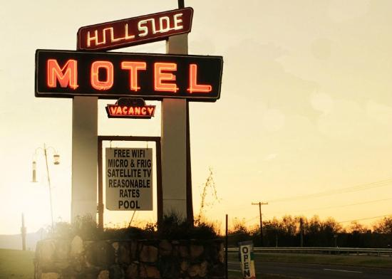 Sunset at the Hillside Motel in Luray