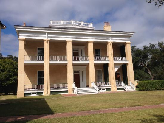 Natchez, MS: The double porches on the rear of Melrose