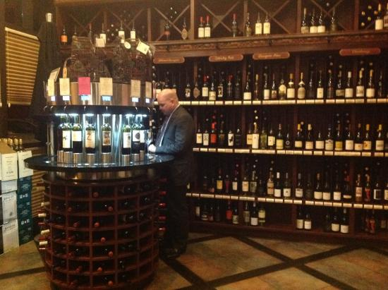 Pour your own wine machines inside The Wine Room - Picture of The ...