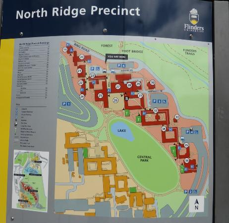 Flinders Uni Map Main Campus Map   Picture of Flinders University, Bedford Park
