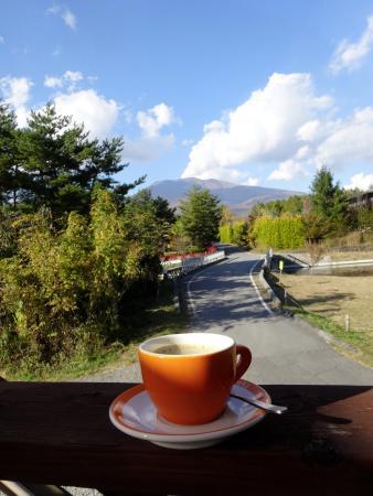 Miyota-machi, Япония: テラス席からの長め