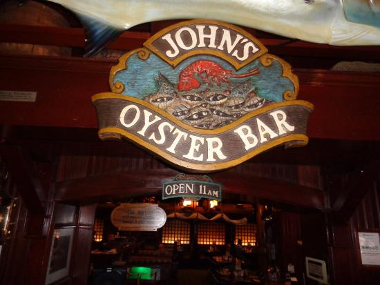 John A's Oyster Bar : Front sign