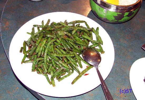 Mandarin Chinese Restaurant: green bean stir fry