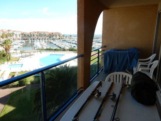 Vue De La Terrasse Photo De Residence Mer Golf Port Argelès - Residence port argeles