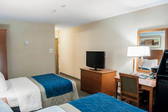 Comfort Inn Airport West: Guest room with flat-screen television