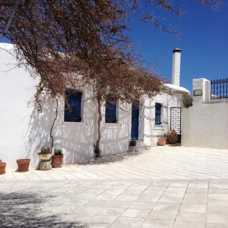 Traditional building near church in village of Lefkes - Paros, Greece