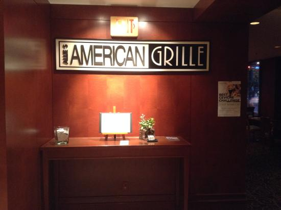 The American Grille entrance from inside the hotel.
