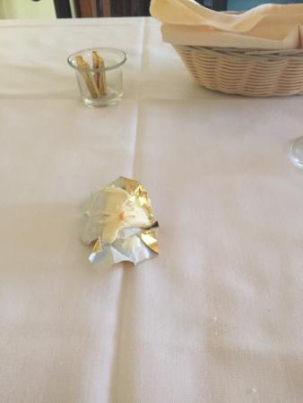 Chez Yasu French Restaurant: Butter packet...