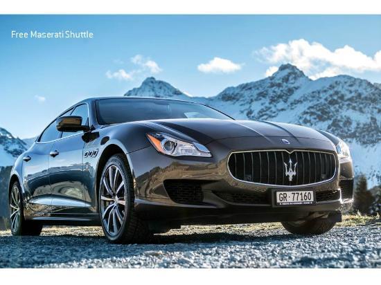Arosa Kulm Hotel & Alpin Spa : Maserati Shuttle