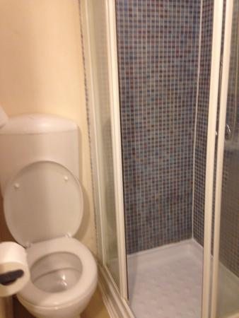 Luton Hotel Residence: Toilet and Shower of room 4