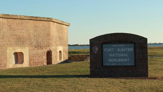 Aerial View Of Fort Sumter Amp Boat Docked Picture Of Fort