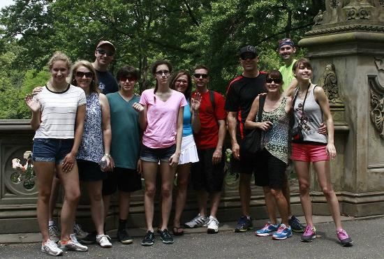 Central Park Bike Rental: stopping for a photo with one of our tour guides