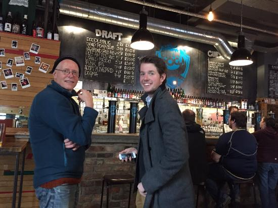 4Kt Guesthouse : My son and I visiting The BrewDog Pub with excellent beers