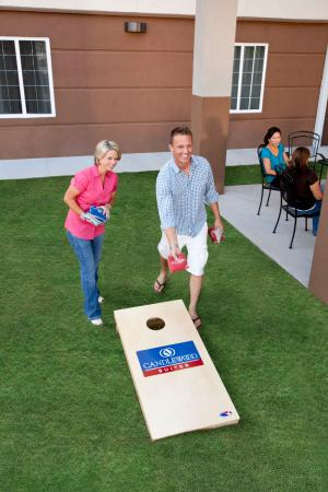 Candlewood Suites Plano-Frisco : Guest Playing Cornhole at the Gazebo Grill