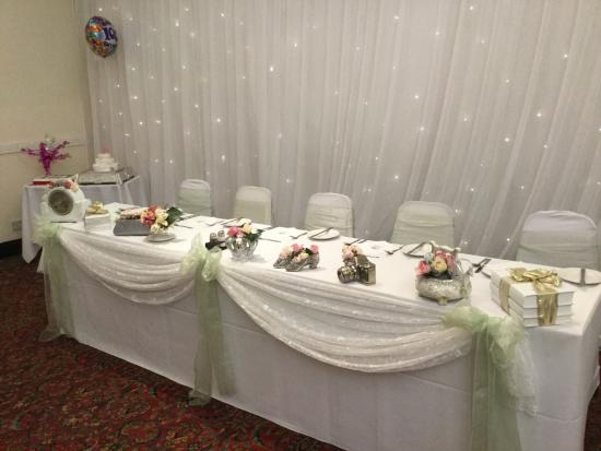 Ravensdene Lodge Main Table Decorated Vintage Style Decoration For 100th Birthday Party