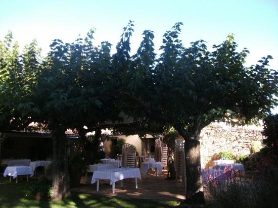 Saint-Macaire, Prancis: Preparing for a Sunday lunch under the pergola