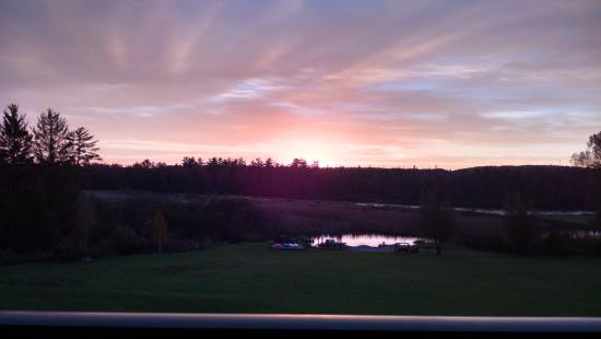 Alanson, MI: Sunrise from 3rd floor balcony