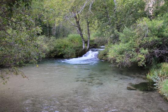 Spearfish Canyon Lodge: creek behind lodge