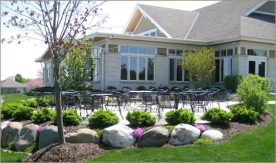 White Deer Run Golf Club: Club house back patio