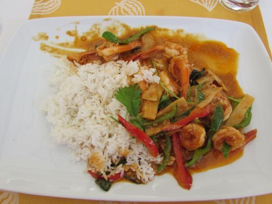 Lan Sang: curry de gambas