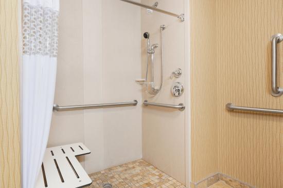 Hampton Inn & Suites Williston: Accessible Roll-in Shower