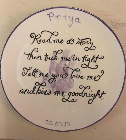 Ballasalla, UK: Baby Handprint with Poem