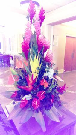 Tradewinds Hotel: Beautiful tropical flowers...