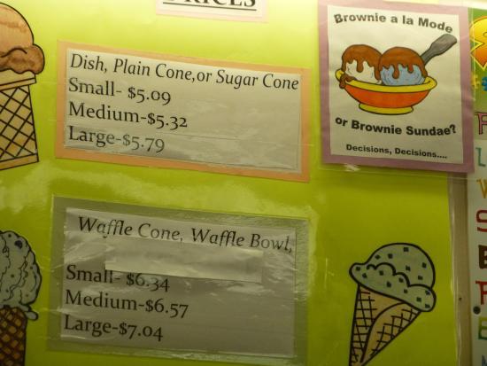 Ben & Bill's Chocolate Emporium: Prices