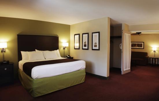 2 Room Suite With King Bed Full Size Sofa Sleeper Micro Fridge Picture Of Americinn By Wyndham Okoboji Tripadvisor