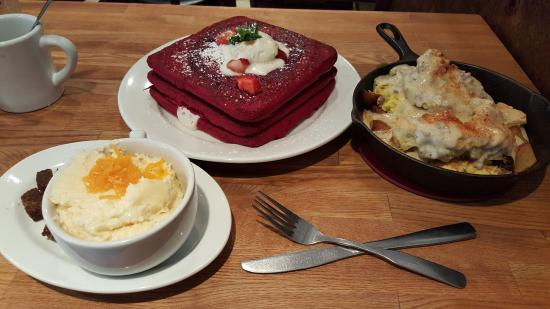 Cheese Grits, Red Velvet pancakes, and Kitchen Sink skillet ...