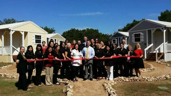 Crawford, TX: The staff at the Spa.  Grand opening of Cottages