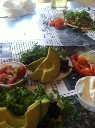 Center Ossipee, NH: Vegetarian taco