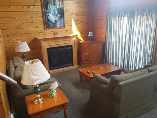"Jackman, ME: Cabin - the ""living room"""