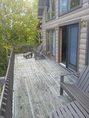 Jackman, ME: Cabin - The wraparound deck