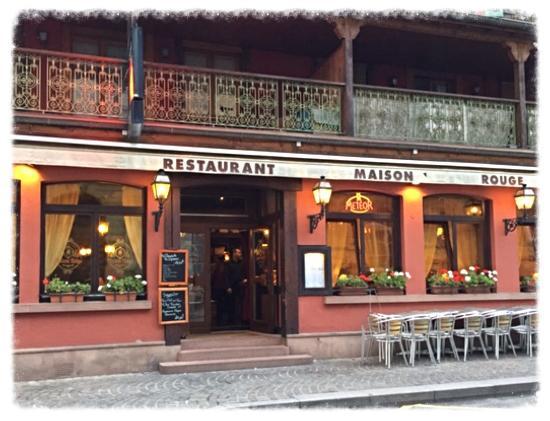 Exterior View Of The Restaurant At Colmar Picture Of La Maison Rouge Par Petit Jean Colmar Tripadvisor