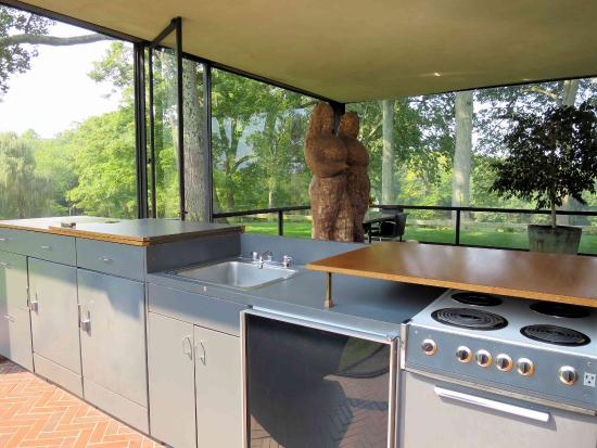 Philip Johnson Glass House the glass house kitchen yes it has one picture of the philip