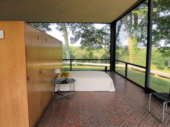 The Philip Johnson Glass House Bedroom