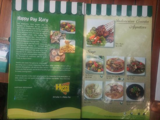 Menu Foto Happy Day Restaurant Jakarta TripAdvisor