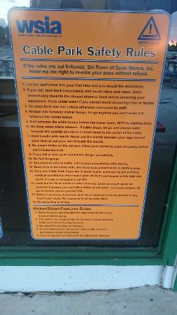 Ski Rixen - Deerfield Beach: rules that are only enforced on one person